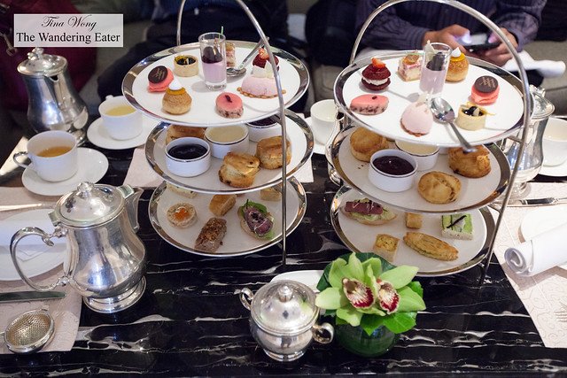 Our tiers of wonderful pastries and savory items for afternoon tea
