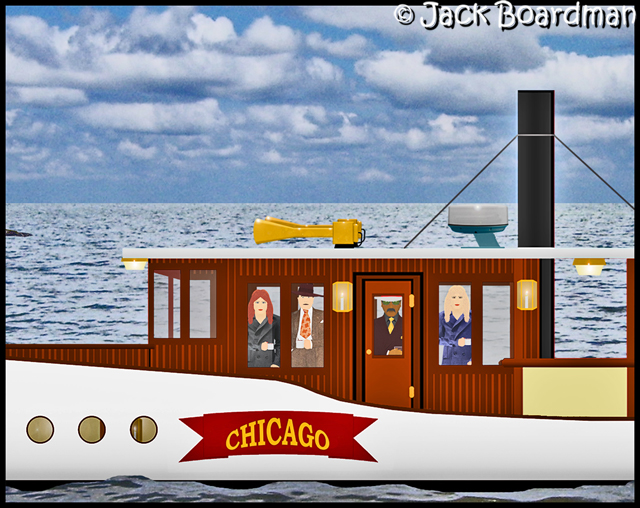 Aboard the Steam-Yacht, Chicago