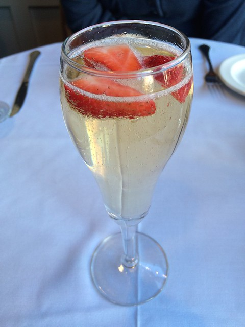 Champagne and strawberries - Warehouse Bar & Grill