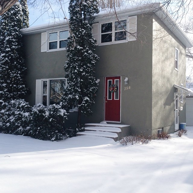 Our house looks so cute in the snow.
