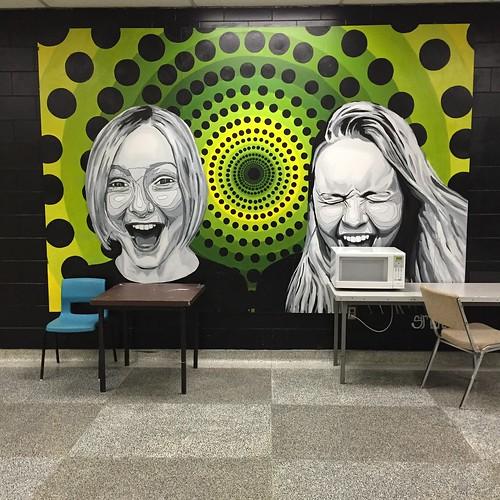 Hallway art at Canterbury HS.