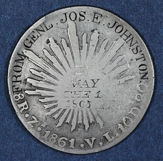 1861 8Reales Gen Johnston obverse
