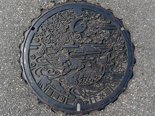 Fukuoka Toyama, manhole cover 2 (富山県福岡町のマンホール2)