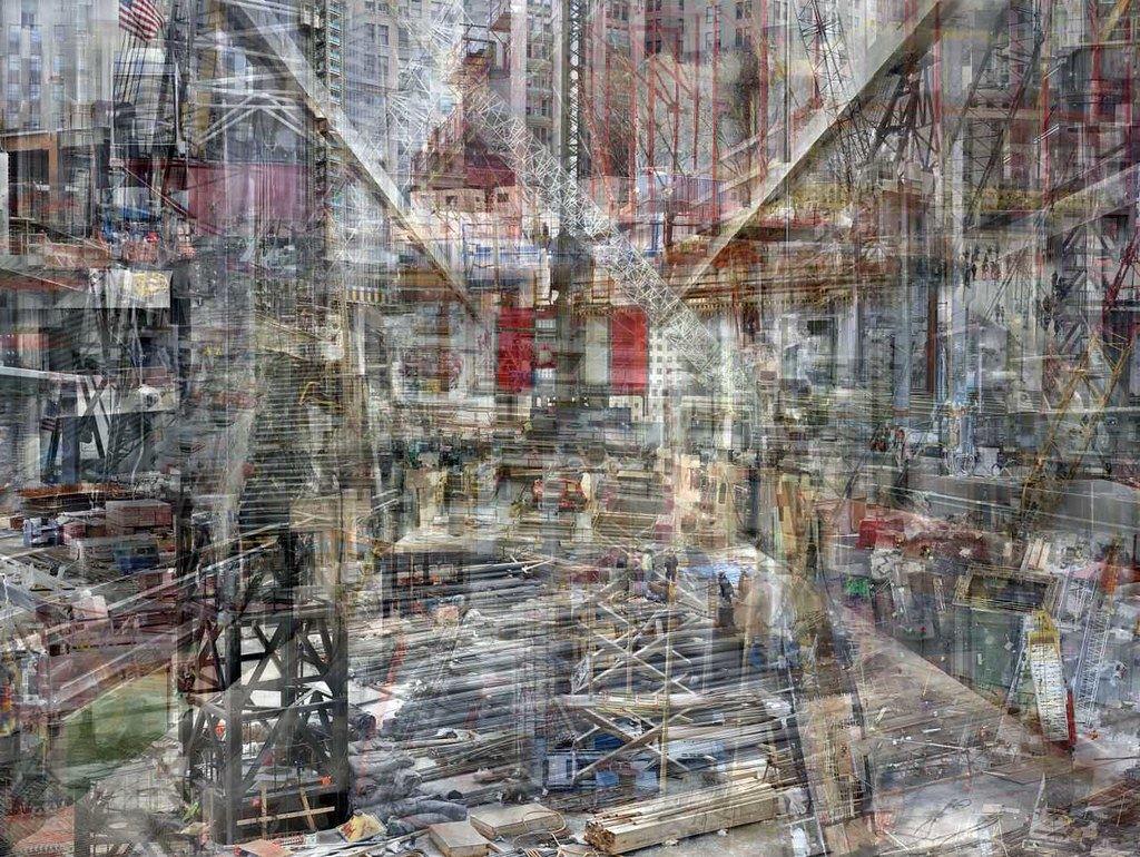 Shai Kremer, World Trade Center: Concrete Abstract no. 1 2011–2012, completed 2012, archival pigment print, 60 x 80