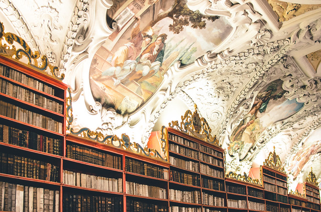 Books in Strahov Monastery's Theological Hall