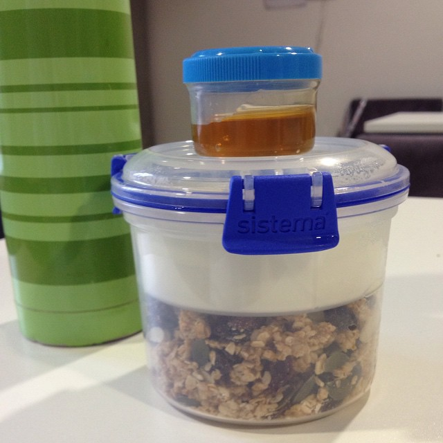Good morning! I am loving ITU...almost as much as I'm loving my new granola and yogurt pot (from the marvellous Lakeland of course). Morning break time. #work #nurse #secondbreakfast #granola #yogurt #pot