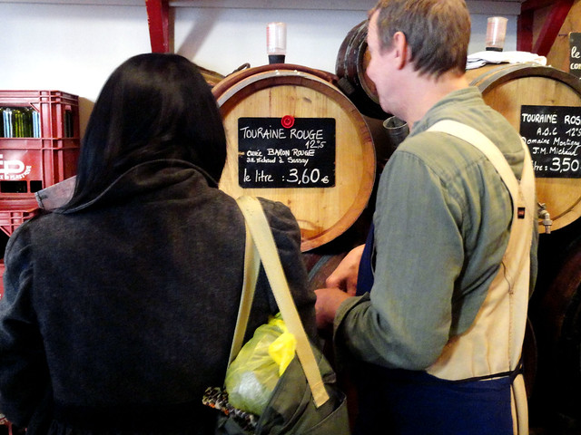 Buying wine at Le BaronRouge