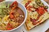 Mmm... posole and quesadillas