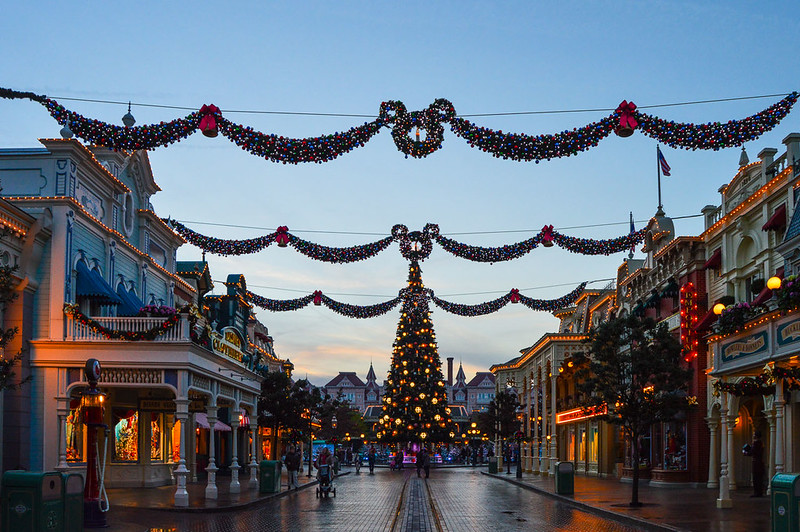 Main Street U.S.A at Christmas