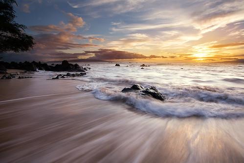 sunset seascape beach canon landscape hawaii maui 1740mm wailea canon1740mmf4l canon5dmarkiii
