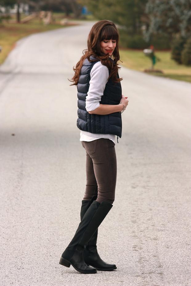 Puffy Vest, ShoeMint Boots