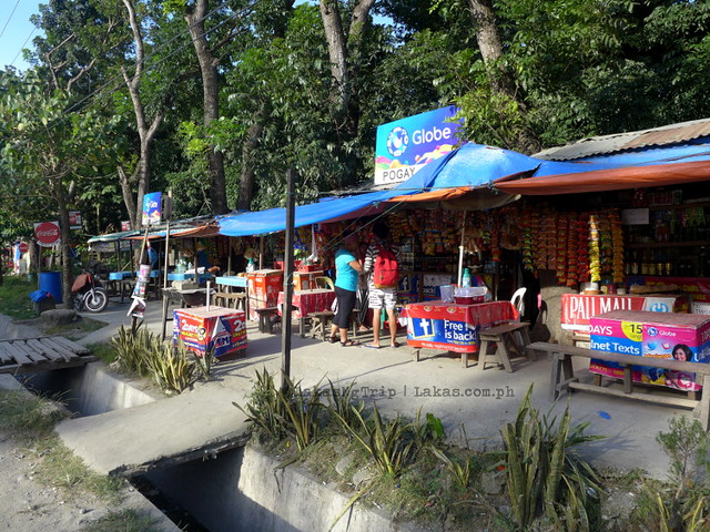Stores along the road at Centennial Park in Iligan City, Philippines