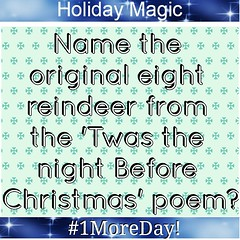 Good afternoon everyone! Here is our last question for the season. #HappyWednesday #HappyHolidays #HolidayMagic #1MoreDay