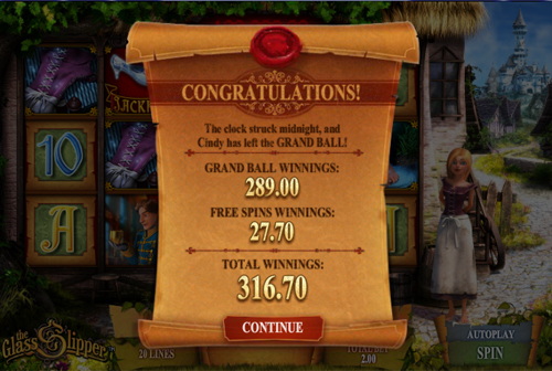 free The Glass Slipper gamble feature
