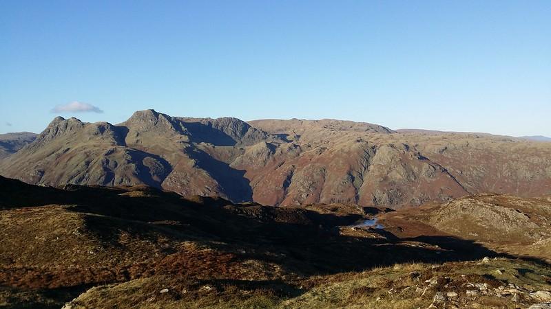 Langdale Pikes from Lingmoor Fell #sh