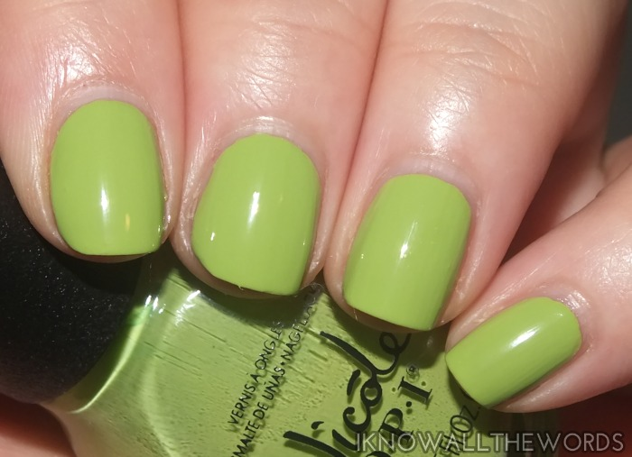 nicole by opi new shades- simply sub-lime