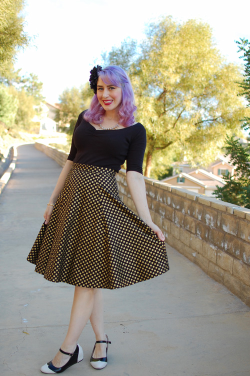 pinup top and full circle skirt from Heart of Haute