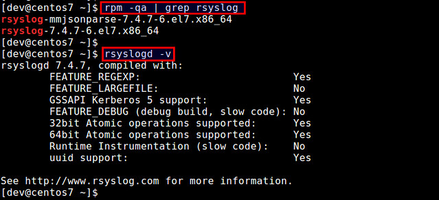 How to configure rsyslog client for remote logging on CentOS