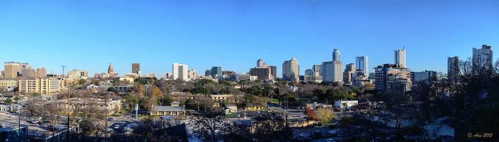 Austin Skyline viewed from the Hope Outdoor Gallery