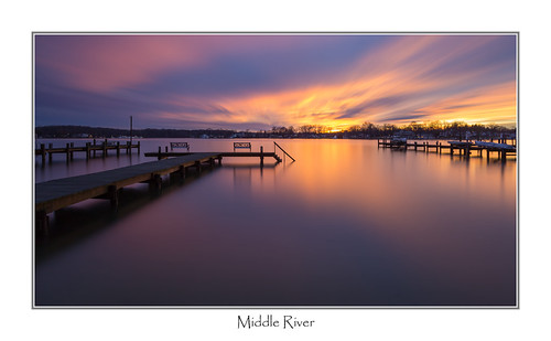 sunset pier maryland middleriver