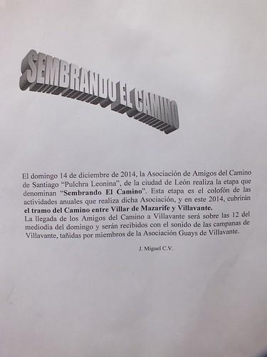 Sembrando el Camino, 2014