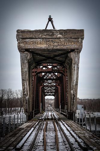 railroad bridge winter minnesota canon landscape mississippiriver saintpaul tamron2875mmf28 canon6d canoneos6d