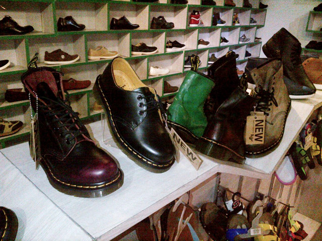 They even have what I believe to be 1925 Doc Martens on display
