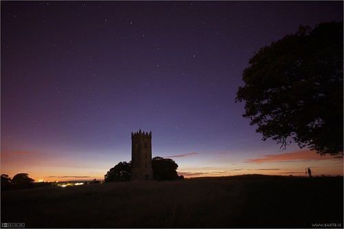 ireland tower night astrophotography maynooth constellation kildare localhistory historicbuilding cartonestate