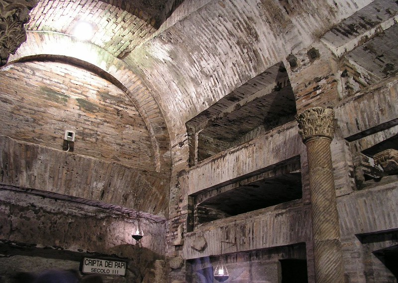 The Crypt of the Popes in Catacomb of Callixtus
