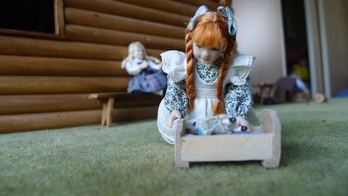 Part of Little House on the Prairie dollhouse miniatures 1:12