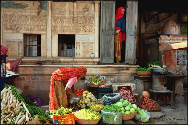 Market. Pushkar