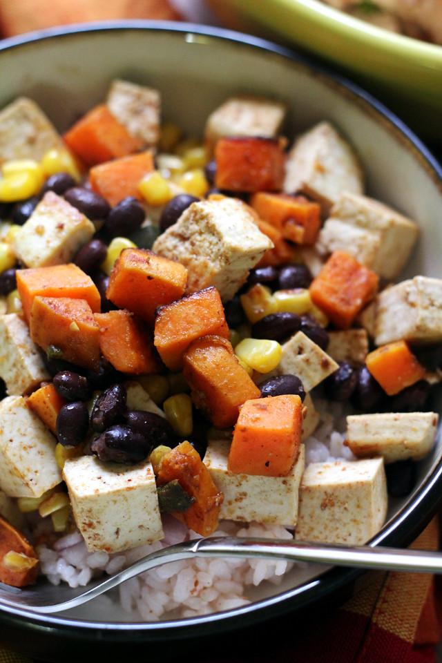 Rice Sweet Potato Bowl