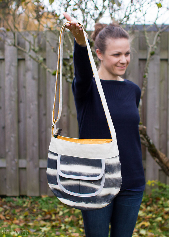 handpainted sidekick tote