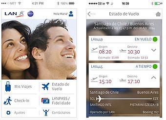 LAN App teléfonos moviles portada (LATAM Airlines)