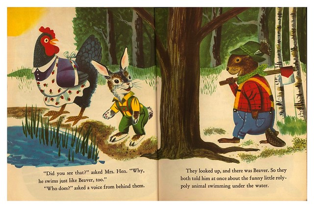 015-Rabbit and his Friends-  Escrito e ilustrado por  Richard Scarry- Copyright 1953-via goldengems.blogspot