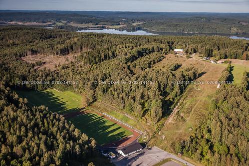sverige swe västragötaland bengtsfors flygfoto idrottsplats skidbacke
