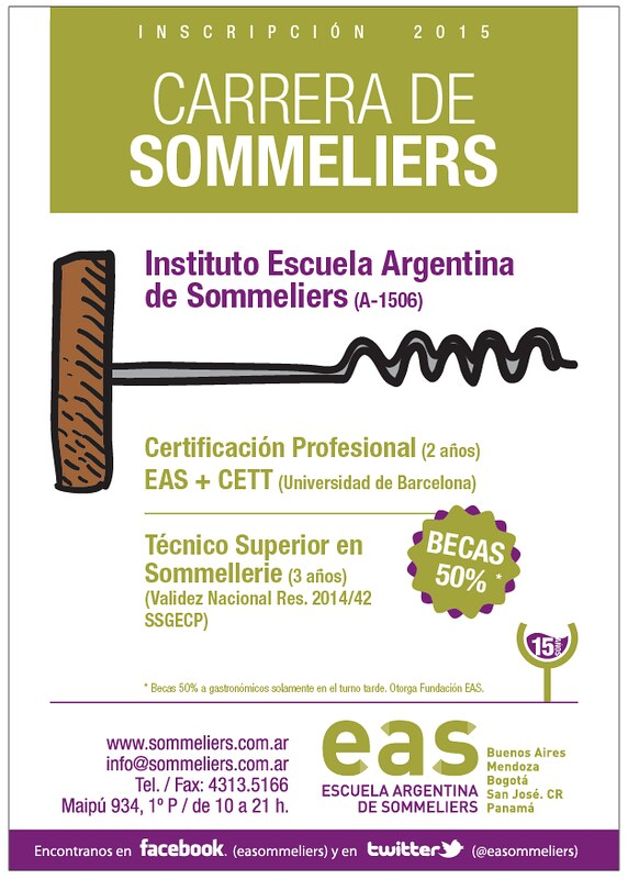 Becas en la Escuela Argentina de Sommeliers