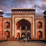 The Great Gate (Darwaza-i rauza) of Taj Mahal, Agra, Uttar Pradesh, India :: HDR