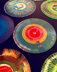 Props to my friend Jon Layne for marrying spin art and vintage vinyl. Still my fave party craft ever. You should always call @dadfluential when you require your party to rock (and roll). Congrats on an awesome event today at the #zimmermuseum #weallplay20