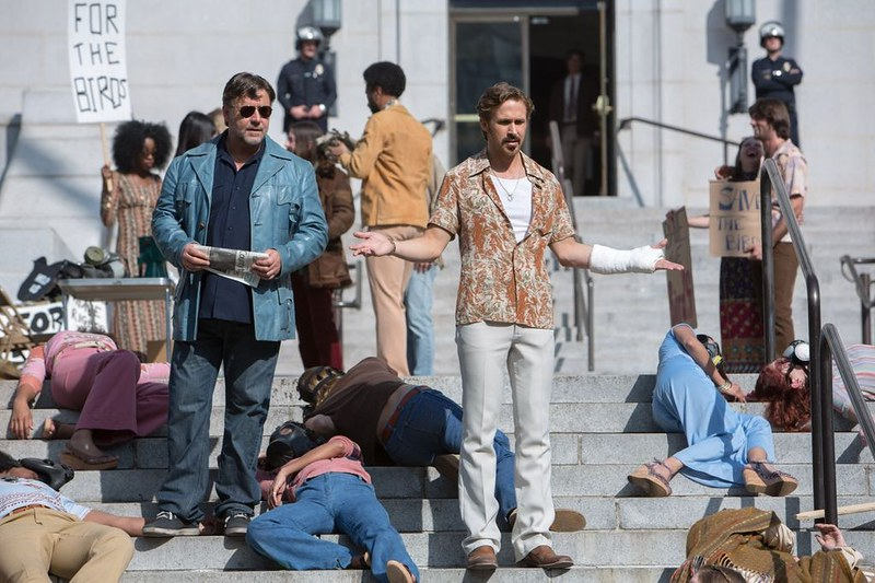 Russell Crowe and Ryan Gosling are on the case in THE NICE GUYS.