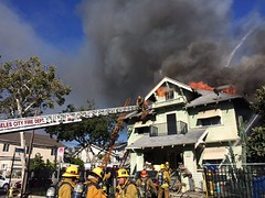 Historic Pico-Union Homes Ravaged By Fire