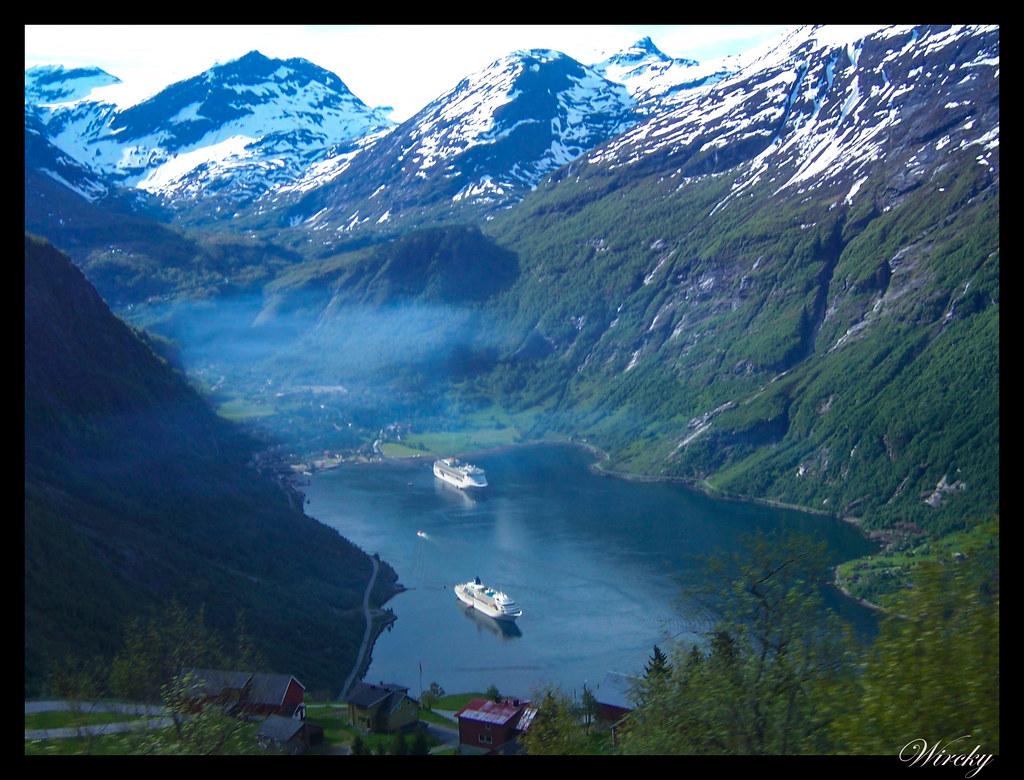 Ruta viaje fiordos noruegos - Mirador Ornesvingen del fiordo Geiranger