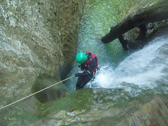Helen abseiling Image