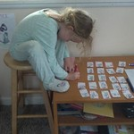 Evie Doing Homework