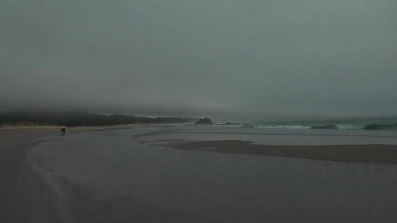 Playa de viento y olas