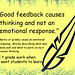"Educational Postcard:  ""Good feedback causes thinking."""