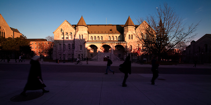 Ontario Hall at sunset