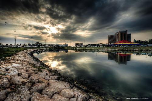 city urban weather clouds landscape bahrain asia cityscape cloudy hdr hdri boarder ksa khobar alkhobar