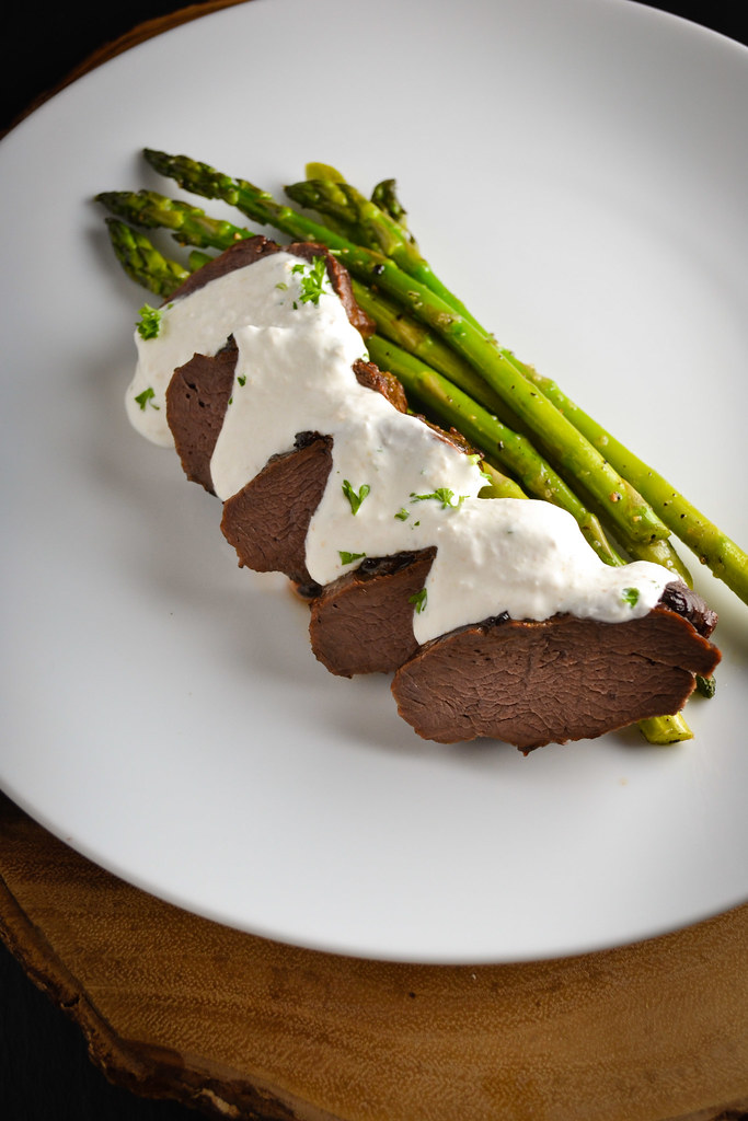 venison loin roast with horseradish cream | things i made today