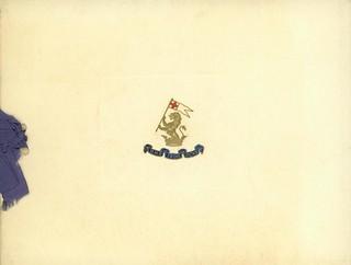 Christmas Greetings Card, HMS Iron Duke, 1918, page 1 of 2